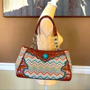 BLAZIN ROXX chevron Handbag